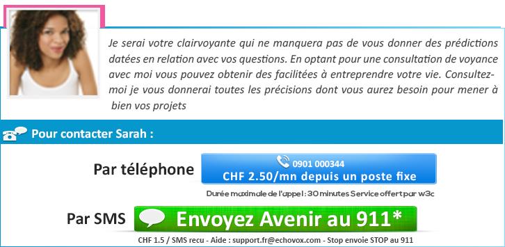 66baa9900dc3e La voyante par téléphone Sarah  don de naissance et réponse par flash. contact  voyance